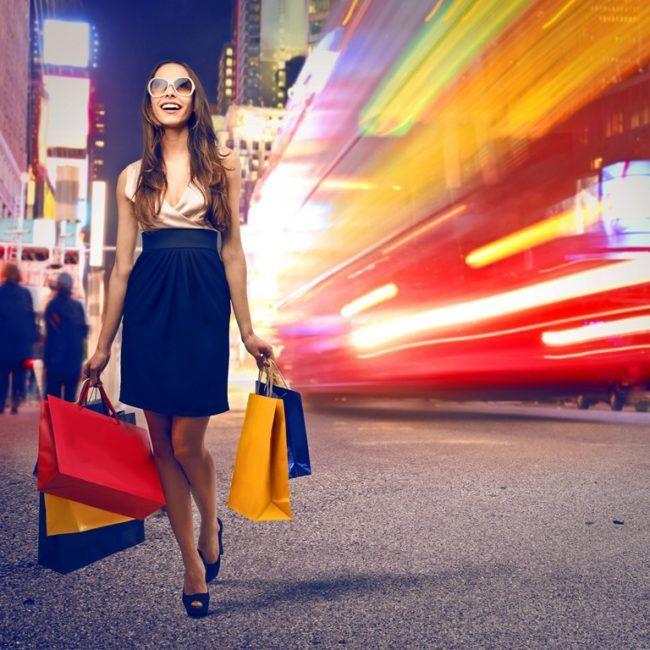 Grand week-end shopping addict à New York