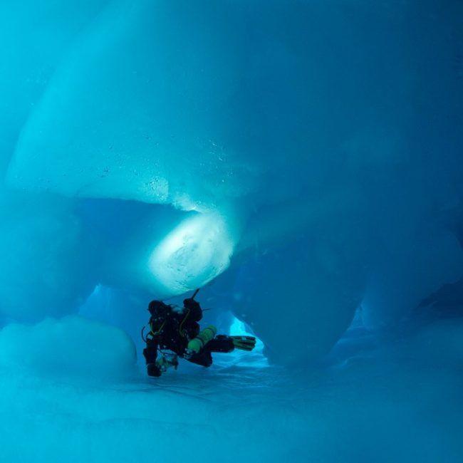 Un voilier enfermé dans les glaces